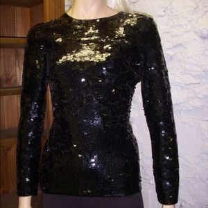 Immaculate Sequined Long Sleeve Knit Top